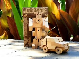 WooBot - Wooden Robot Transforms into a Humvee