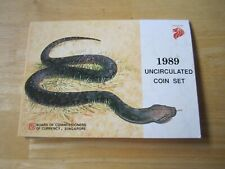 1989 Singapore Uncirculated Coin Set, Year of the Snake, 6 coin set