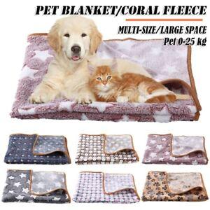 Winter Soft Fleece Pad Pet Blanket Flannel Pet Bed Mat Puppy Warm Sleep Mat CA