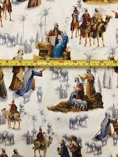 Christmas Peace Nativity Scene Baby Jesus Religious Fabric 18