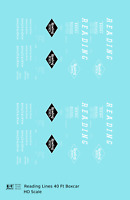 K4 HO Decals Reading 40 Ft Boxcar White Diamond Logo