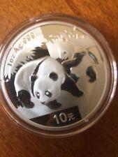 2008 China 1 oz Silver Panda 10 Yuan In Original Capsule From A Mint Sheet