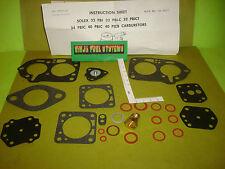 CARBURETOR REBUILD KIT SOLEX FIAT 4CYL 1953-1966 54 55 56 57 58 59 60 61 62 63