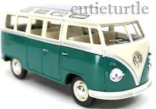 Kinsmart 1962 Classic Volkswagen VW Micro Bus 1:24 Cream / Green
