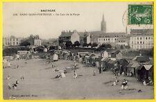 cpa Bretagne SAINT QUAY PORTRIEUX (Côtes d'Armor) Un coin de la PLAGE Cabines