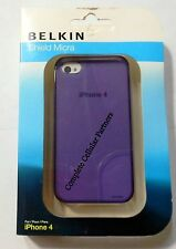 *Brand New* Belkin Shield Micra SmartPhone Purple Cover For iPhone 4 & 4s.