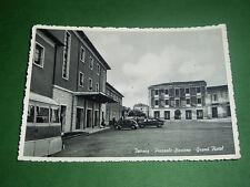 Cartolina Isernia - Piazzale Stazione - Grand Hotel 1960