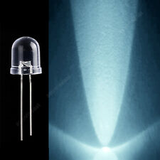 50 × 10mm Green LED Light Emitting Diode Round Top Water Clear Lens With Edge