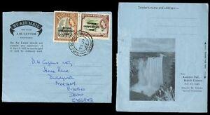BRITISH GUIANA 1967 AEROGRAMME ILLUSTRATED WATERFALL