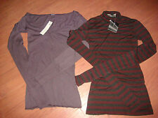 LOT OF 2 NWT LONG-SLEEVE SHIRTS 'NICOLE MILLER' AND 'MADE' SIZE XS MSRP:$175+TAX