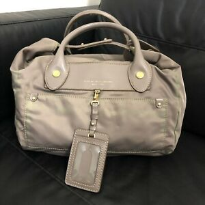 Authentic Marc By Marc Jacobs Preppy Pearl Nylon Duffle Purse Bag Lightweight