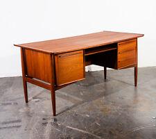 Mid Century Danish Modern Desk Arne Vodder H.P. Hansen Solid Teak Executive Mcm