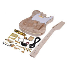 Muslady TL Tele Style Unvollendete E-Gitarre DIY Kit Basswood Body B4W8