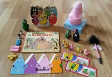 LOT BARBAPAPA FIGURINES COLLECTION VINTAGE FEVES TIRELIRE LIVRE CORTONNÉE KINDER