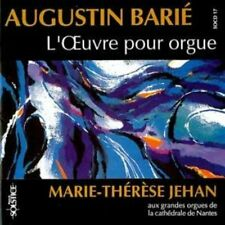 AUGUSTIN BARIE: L'Oeuvre pour orgue / MARIE-THERESE JEHAN Organ CD LIKE NEW