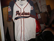 Vintage San Diego Padres Throwback Script Baseball Starter Jersey Xl! Mlb