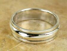 6mm Wide 925 STERLING SILVER PLAIN BAND SPINNING RING size 9  style# r0660