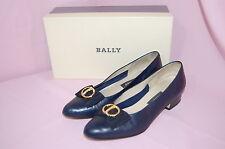 BALLY Daisy Calf Navy Classic Women's Closed Toe Heels Shoes~6.5
