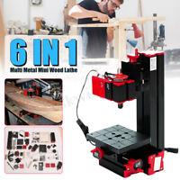 6 In 1 Multi Metal Mini Lathe DIY Wood Model Making CNC Drilling Milling Machine