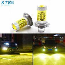 Pair H7 4300K Yellow LED Fog Driving Light 2323 100W High Power DRL Bulb US