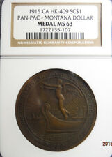 1915 HK-409 Panama-Pacific Int'l Expo. Montana Fund SC-Dollar NGC MS 63, R4