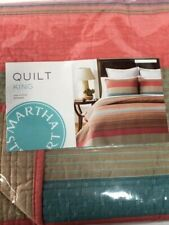 NIP Martha Stewart Collection Quilt King Reversible Western Horizon Multi-color