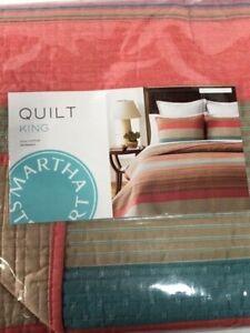 NIP Martha Stewart Collection Quilt King Reversible Western Horizon Multi-color
