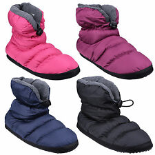 Cotswold Camping Padded Faux Fur Draw String Tie Womens Bootie Slippers