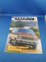 1979 DODGE SPORTSMAN WAGONS VANS KINGS OF THE ROAD DEALERSHIP SALES BROCHURE