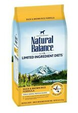 Natural Balance LID Limited Ingredient Diets Dry Dog Food Duck & Brown Rice 4 lb
