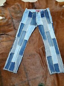 Zana Di Retro Patchwork Jeans Women's Hippie Gypsy Size 9