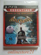 Batman Arkham Asylum Game of the Year Edition PlayStation 3 NEU