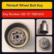 """Genuine renault verrouillage roue écrou clé/165 """"e"""""""