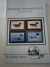 Waterfowl Wisconsin Canada Goose Mallard Loon Sewing Wall Quilt Pattern Block