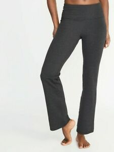 Old Navy Women's High-Waisted Slim Boot-Cut Yoga Pants size M Color Carbon