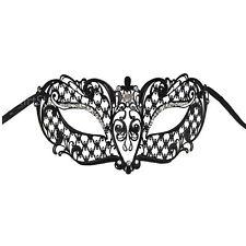 Adult Laser Cut Venetian Black Prom Ball Fancy Metal Masquerade Costume Eye Mask