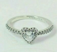 Pandora - 56 mm - S925 ALE Elevated Heart Ring 198421C01 + Tissue & Pop-up Box
