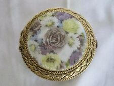 Vintage Max Factor Floral Fresco Compact Collectible Creme Puff Pressed Powder