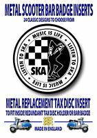 Scooter Metal Insignia, Metal Recambio Tax Disc Inserto, Lambretta (Código 15)