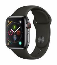 Apple Watch Series 4 40 mm Space Black Stainless Steel Case with Black Sport...