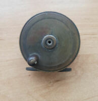 Vintage Antique 3'' Brass Platewind Fly Fishing Reel
