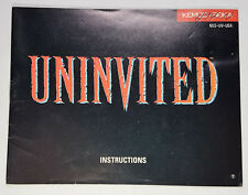 UNINVITED - MANUAL ONLY (NO GAME INCLUDED) NES NINTENDO NESM004