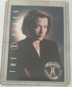 X-files, Dana Scully, carte collector Comic Con San Diego de 2000, comme neuve