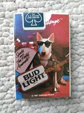 Sealed Bud Light Spuds MacKenzie playing cards 1987 standard new.