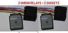 (2) SETS NEW OMRON G8JN-1C7T-MF-DC12 RELAY 12VDC 35A 5-PIN + socket harness