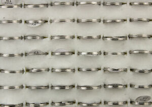 Wholesale Bulk Lots 60pcs Fashion Gifts Stainless Steel 2MM Width Lady's Rings