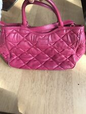Lulu Guinness Pink Jenny Quilted Lips Leather Handbag With Shoulder Strap