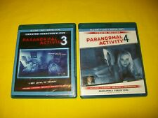 PARANORMAL ACTIVITY 3 & PARANORMAL ACTIVITY 4 BLURAY & DVD