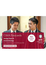 CIMA F3 Financial Strategy: Passcards by BPP Learning Media | Cards Book | 97814