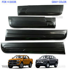Slim Body Cladding Side 4 Door Grey Wildtrak For 12 2015 2017 Ford Ranger T6 PX2